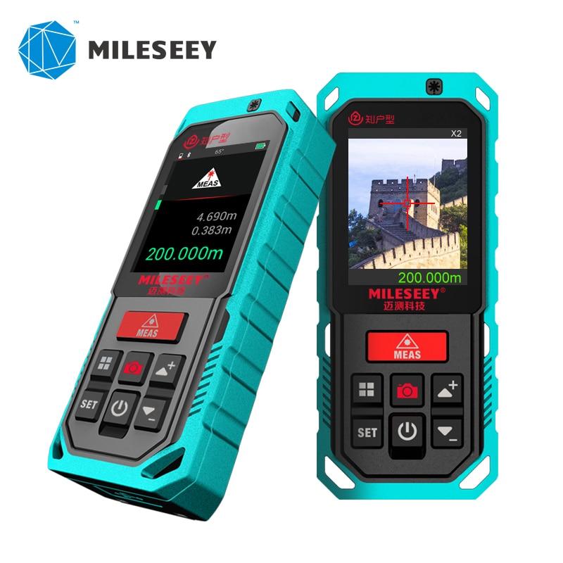 Mileseey-Medidor de distancia láser p7, Zoom 4x con cinta métrica Digital Bluetooth,...