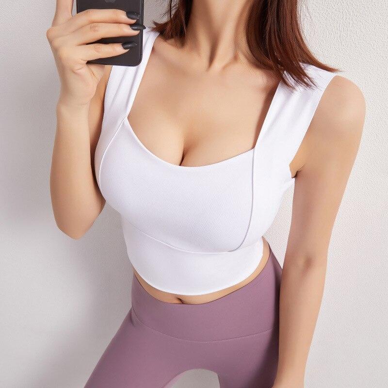Sports Bra for Women Gym Bralette Fitness Brassiere Sport Femme Gathered Yoga Bra Workout Top Brasie