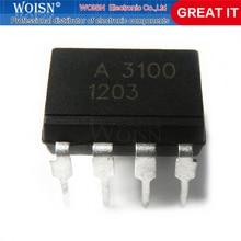 2 pçs/lote HCPL-3100 HCPL3100 A-3100 A3100 UM 3100 DIP-8 SMD-8