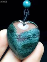 genuine natural green phantom quartz pendant clear heart love 332812mm women man rare fashion jewelry genuine aaaaaa