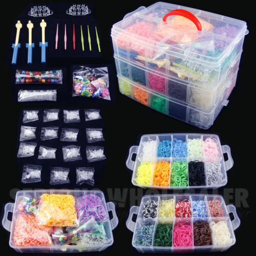 مجموعة من الأربطة المطاطية للأطفال ، لعبة DIY ، نول ، مطاط سيليكون ، ألوان مختلفة
