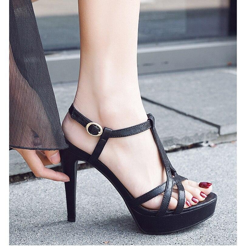 Sandalias doradas y plateadas con talón abierto para mujer, zapatos de tacón alto para mujer, Sandalias de tacón 2020 de tacón grueso, sandalias de verano de 12CM, zapatos de boda