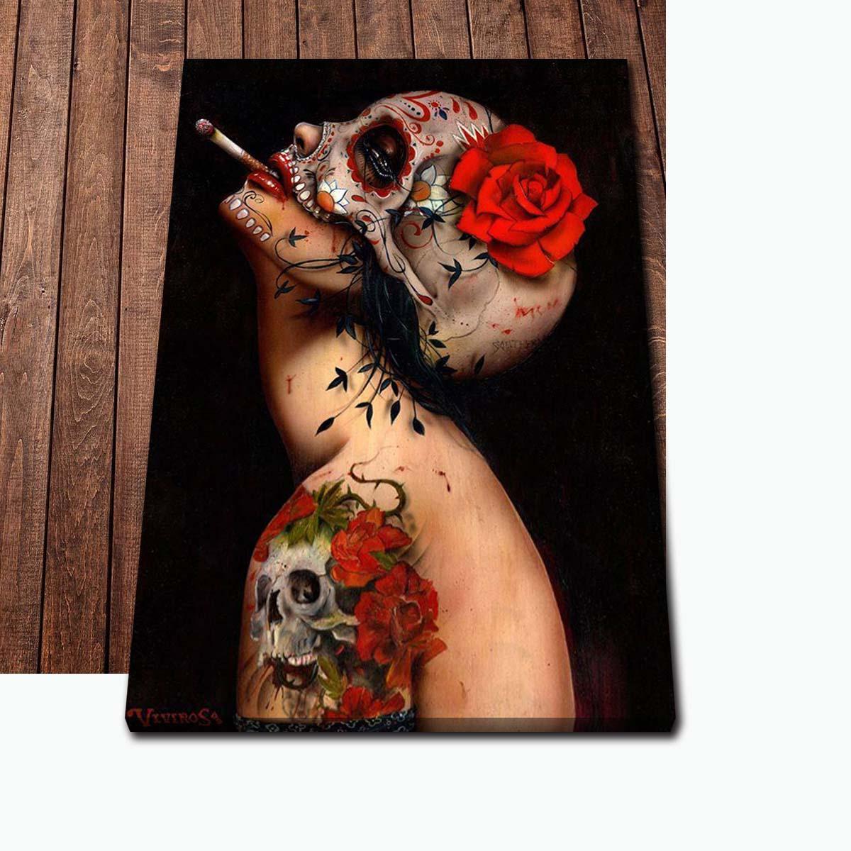 Póster de arte moderno para sala de estar, pintura impresa en lienzo,...