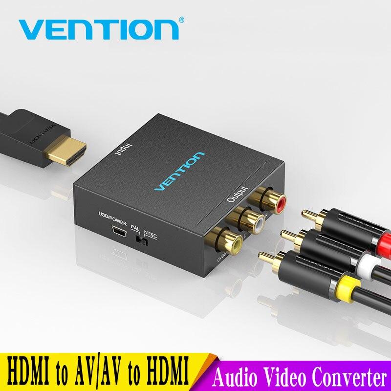 Vention HDMI إلى AV محول HDMI إلى RCA CVBS L/R محول فيديو 1080P HDMI التبديل مع USB صغير كابل الطاقة لصندوق التلفزيون AV HDMI
