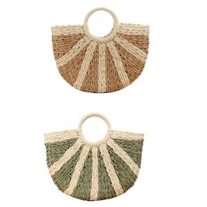 Fashion One-Shoulder Straw Bag Mori Hand-Woven Bag Casual Wild Large-Capacity Beach Bag