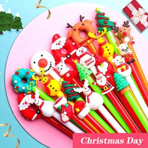 20 PCs 0.5mm Creative Christmas Cartoon Cute Neutral Pen Office Stationery Student  Signature Gel Pen Stationery Gifts