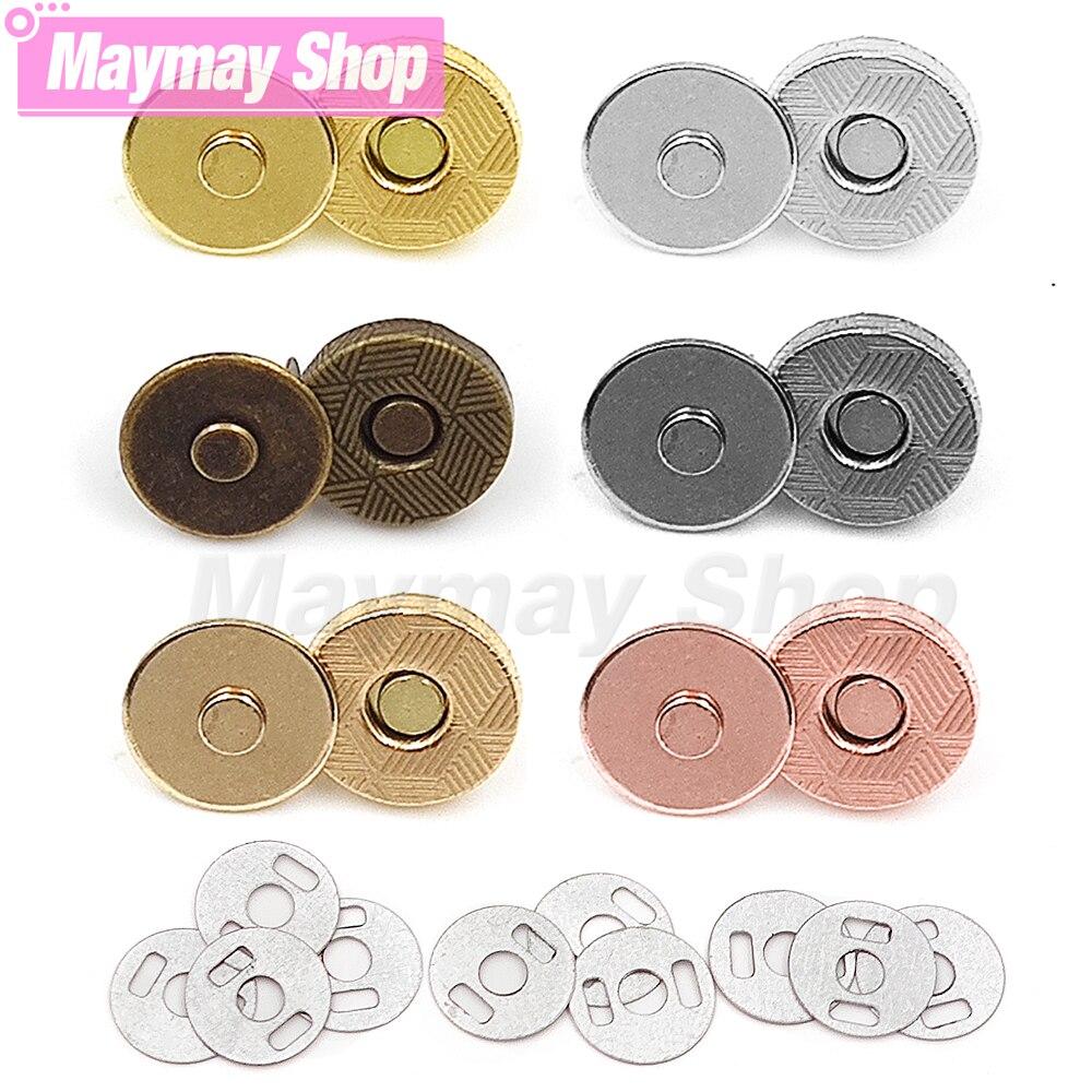10 компл./лот магнитные пуговицы, магнитные автоматические поглощающие пряжки, бумажники, металлические тонкие магнитные пуговицы с инструм...