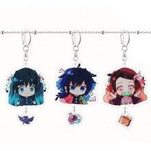 Porte-clés Kamado Nezuko porte-clés Anime porte-clés acrylique porte-clés créatif femme enfants homme filles mignon démon Slayer Kimetsu No Yaiba