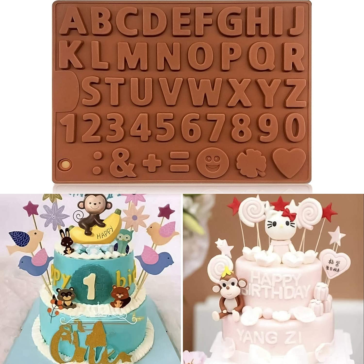 Silicone Chocolate Mold Letters Numbers Happy Birthday Jelly Candy Mould Best Food Grade Non-Stick Cake Baking Tools  - buy with discount