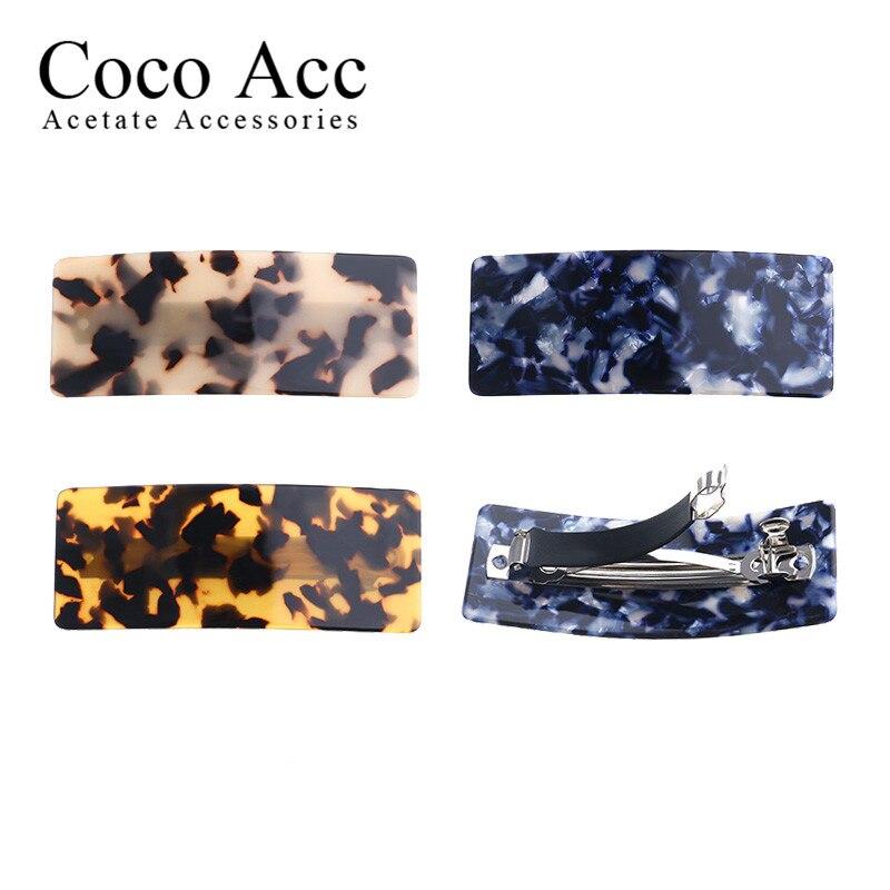 Atacado moda ceia largo acetato de celulose ácido acético folha coreia high-end grampos de cabelo barrettes para meninas femininas