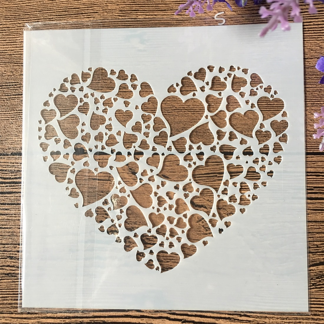 13cm Heart in Heart DIY Craft Layering Stencils Wall Painting Scrapbooking Stamping Embossing Album Paper Card Template F5173