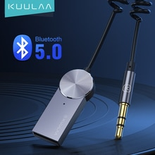 KUULAA Aux Bluetooth Adapter  Dongle Cable For Car 3.5mm Jack Aux Bluetooth 5.0 Receiver Speaker Aud