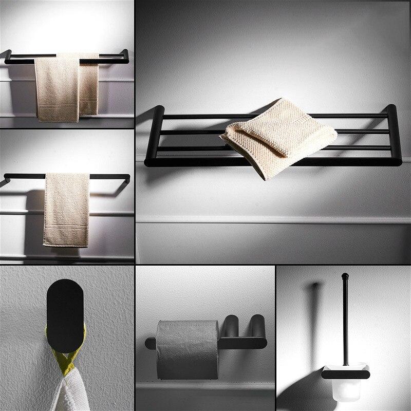 Accesorios de Hardware de baño Negro Set toallero de papel soporte de...