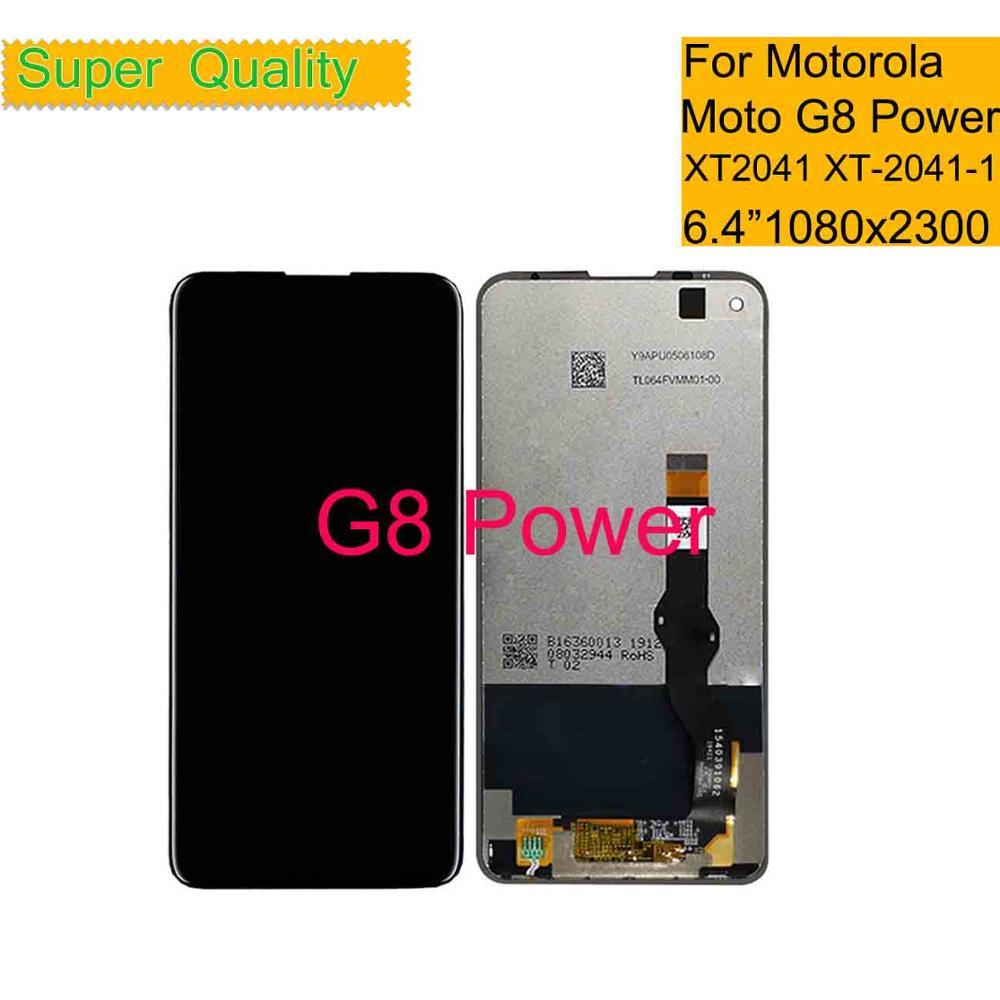 10 unids/lote para Motorola Moto G8 pantalla táctil de potencia LCD con montaje digitalizador para Moto G8 Power XT2041 Display