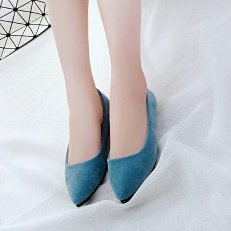 Sapato feminino sapato vintage, mocassim solto com fivela de laço e glitter, azul e rosa