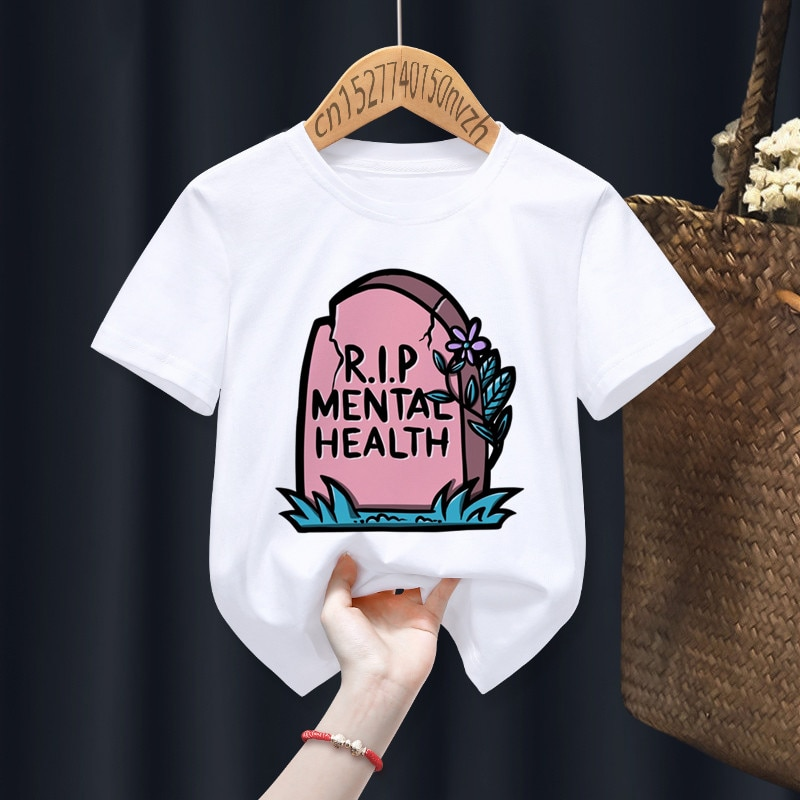 Goth Funny Boy Girl T-shirts Kid Children Anime Gift Present Little Baby Harajuku Clothes,Drop Ship