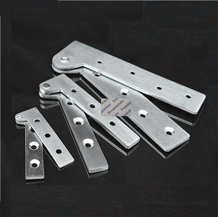 4Pcs/Lot Stainless steel 360 Degrees Rotation Pivot Door Hinge Knife Hinges 7 Shape