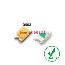 100PCS 0603 SMD LED white 6000-7000k warm white 2800-3200k cold white 8000-11000k 1.6*0.8mm 2.8-3.0v 20mA cree led COB chip led