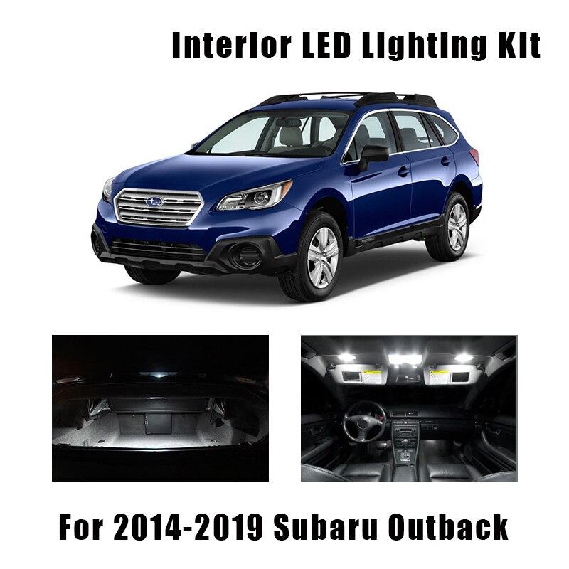 10 stücke Weiß Auto Led-lampen Innen Karte Dome Licht Kit Fit Für 2014-2017 2018 2019 Subaru Outback stamm Tür Lizenz Platte Lampe