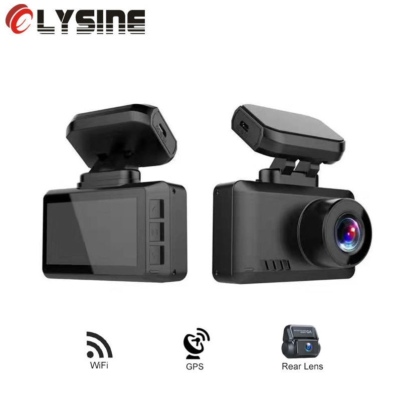 GPS Wifi Novatek 96670 coche DVR Cámara 4K 3840*2160P cámara de salpicadero Video registrador Drive grabadora visión nocturna sin luz D65