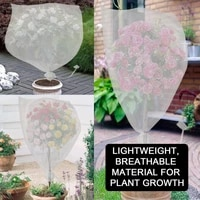5pcsset white plant fruit protect drawstring mesh net bag garden greenhouse plant cover fruit protection garden accessories