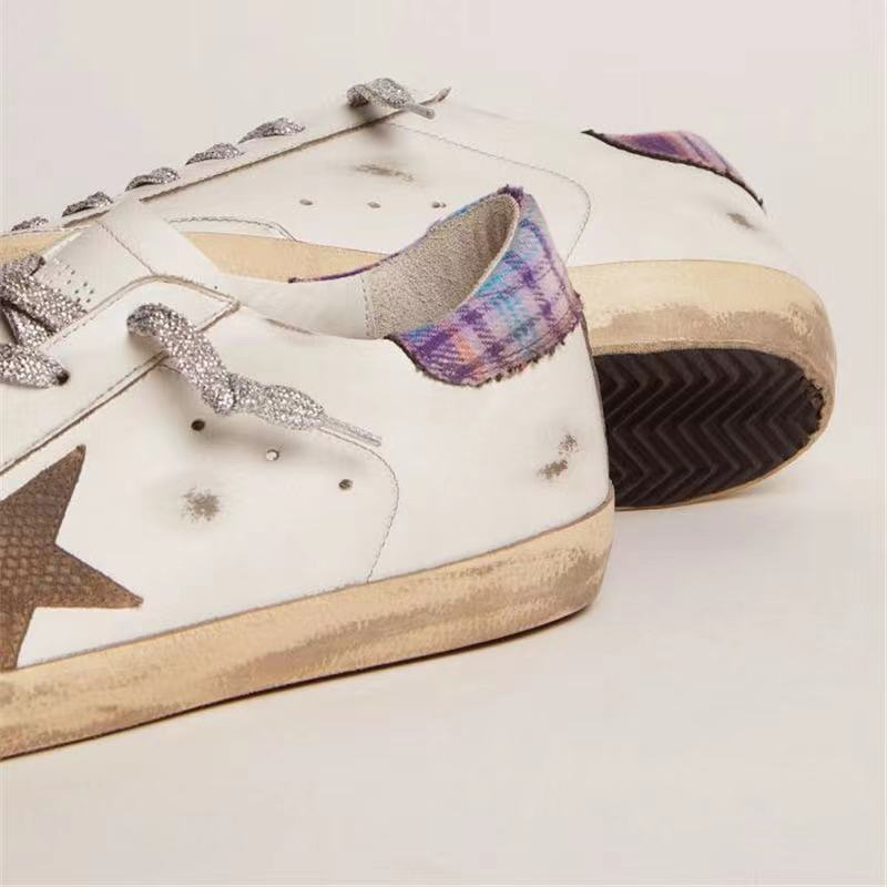 Autumn Product Parent-child Sneakers First Layer Cowhide Retro Distressed  Dirty  Casual Plaid Back Tail Children's Shoes QZ100 enlarge