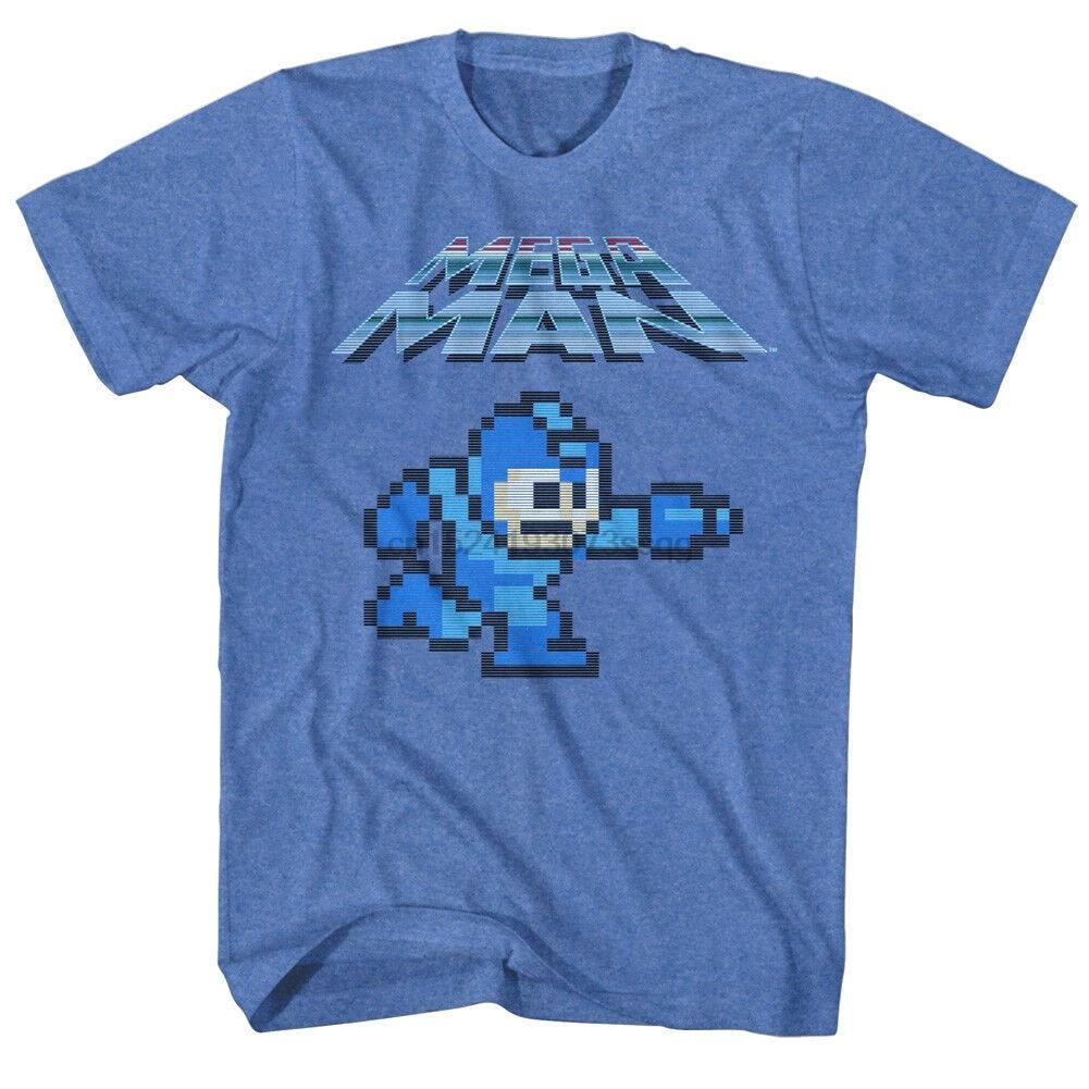Camiseta oficial de Megaman Pixel para hombre, camisa Retro de 8 bits...