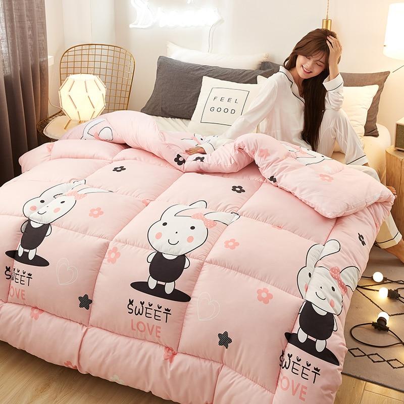 موضة جديدة الأساسية أسفل النسيج ستوكات ملء طقم سرير قابل للغسل بديل حاف شتاء دافئ رشاقته المعزي 7 اللون اختيار