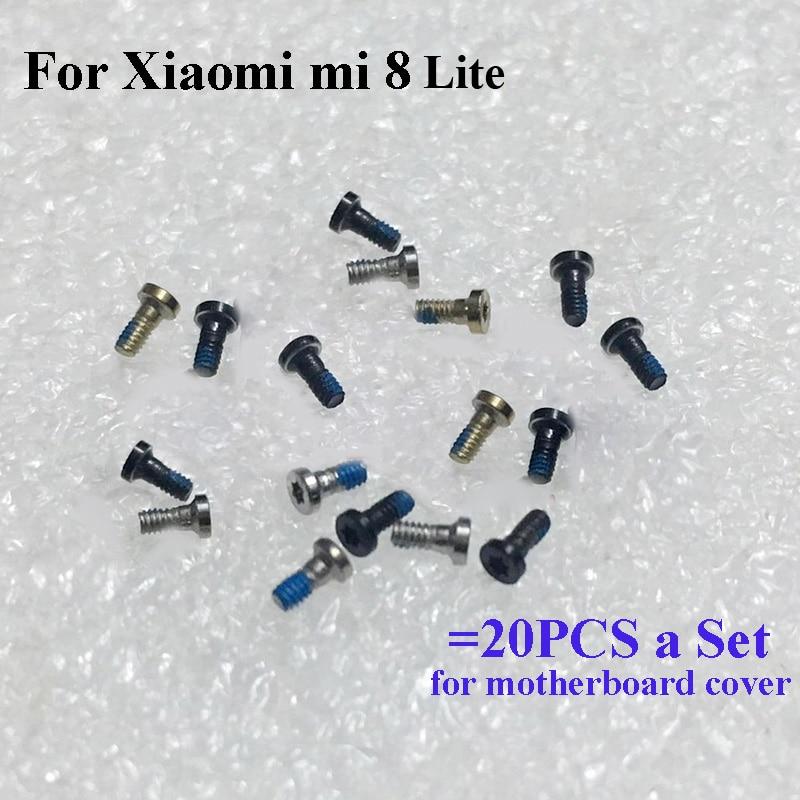 Tornillo de juego de 20 piezas a para xiaomi mi 8 lite placa base tornillos piezas de reparación para xiaomi mi 8 lite mi 8 lite