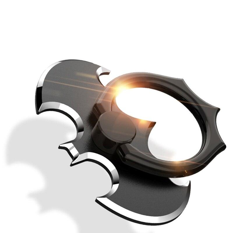 Batman anel de dedo universal para smartphone, metal alumínio luxuoso, anel de dedo universal, apoio de mesa para iphone 8 7 xiaomi mi8 suporte