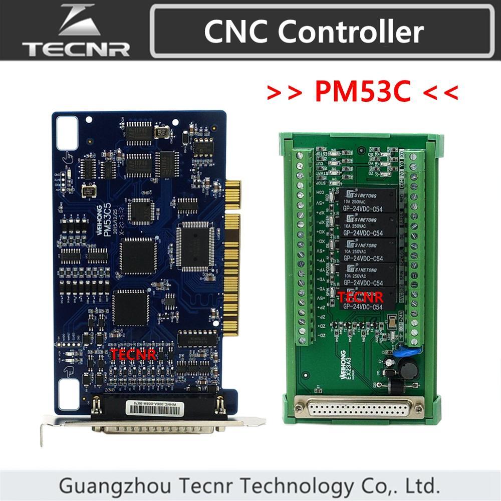 TECNR-وحدة تحكم استوديو 3 محاور ، نظام تحكم weihong متوافق مع جهاز التوجيه cnc ، PM53C