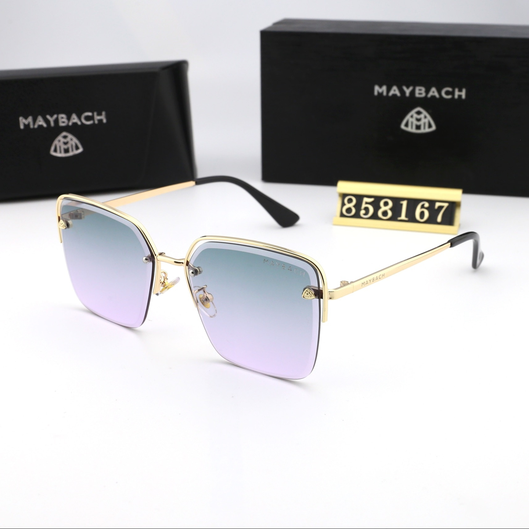 Authentic Maybach Fashionable Lady Sunglasses Luxury Brand Designer Men Top Quality Couple Glasses 8