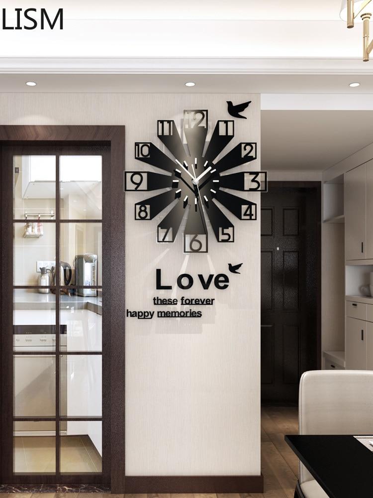 Креативные настенные часы в Европейском стиле, Стильные Современные Простые настенные часы для гостиной, домашний декор, настенные часы, бе...