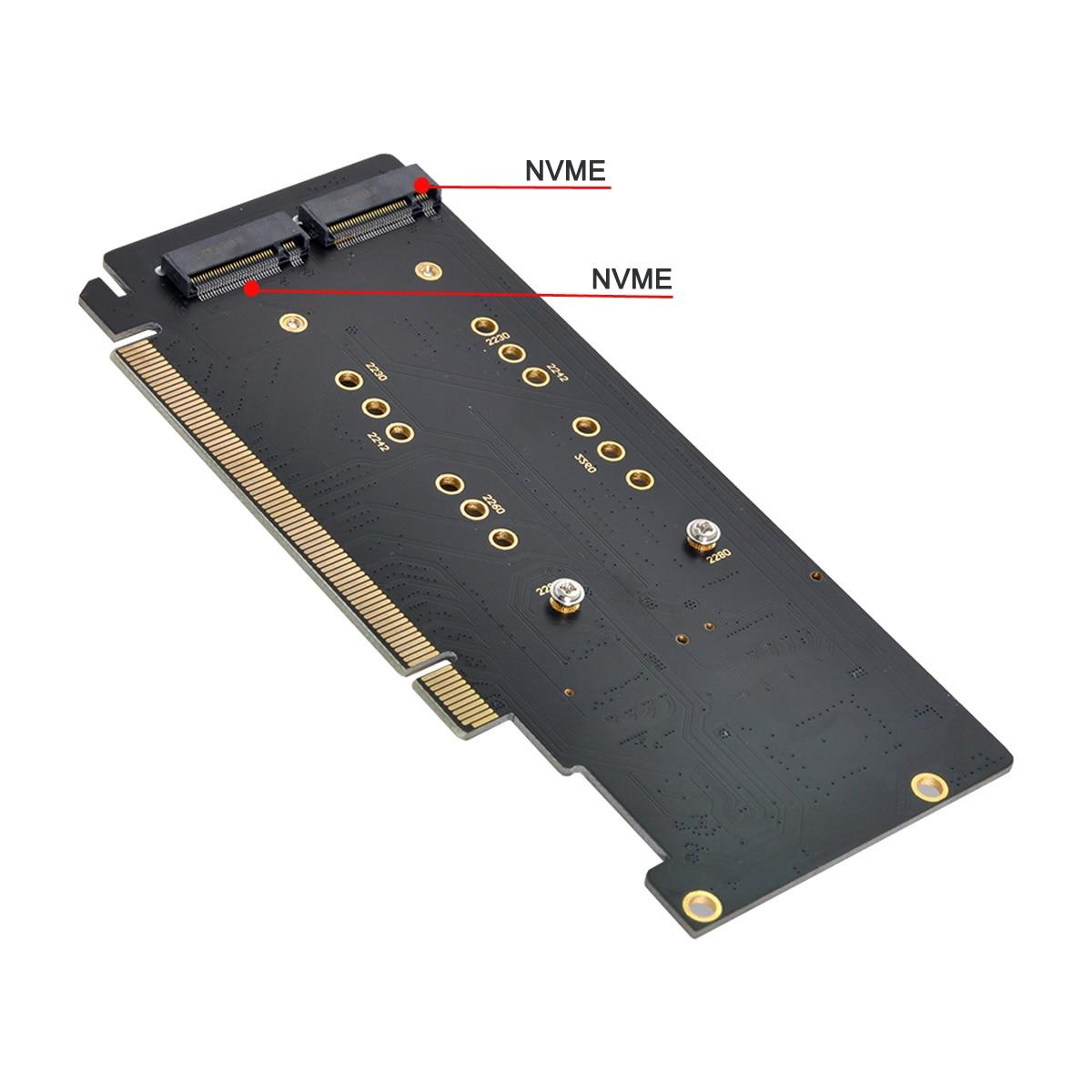 4X NVME M.2 AHCI to PCIE Express 3.0 Gen3 X16 بطاقة مداهمة VROC Raid0 محول هايبر