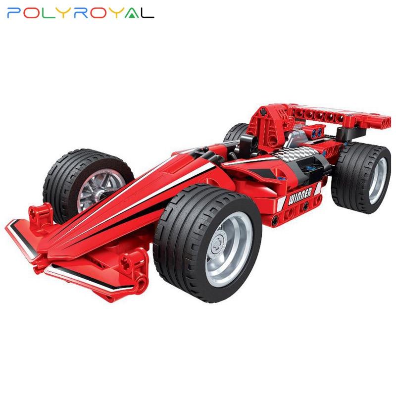 Строительные блоки Polyroyal, модель автомобиля-формула, 180 шт., модель MOC, Обучающие кубики «сделай сам», детские игрушки, рождественские подарки...