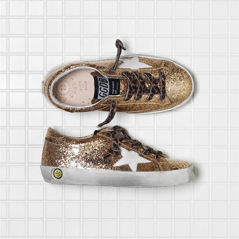 Children's 2021 Spring  New Products Gold Sequins Old Retro Dirty Shoes for Boys and Girls Casual Non-slip Kids Shoes CS192 enlarge