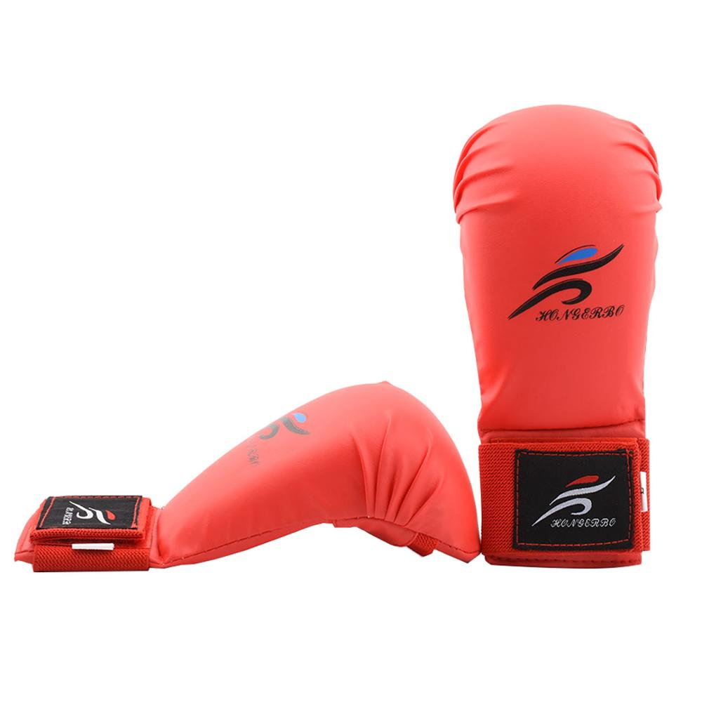 Перчатки для карате для взрослых и детей, боксерские перчатки, защитные накладки для тхэквондо, Санда, кикбоксинга, тайского Муай, MMA, тренир...