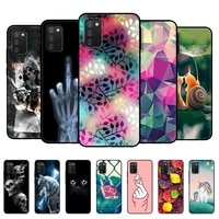 for samsung a02s case soft silicon back phone cover for samsung galaxy a02s galaxya02s a 02s sm a025f a025 6 5 black tpu case