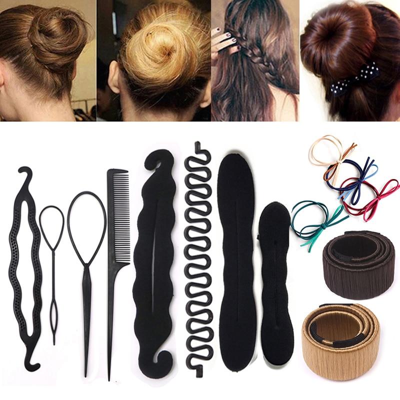 Fashion DIY Hair Accesories Hair Braid Maker Styling Tools Magic Sponge Clip Foam Bun Curler Hairsty