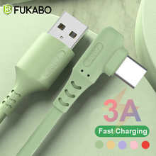 3A Liquid silicone USB Type C Cable Fast Charging Mobile Phone Charger Data Cord for Huawei Samsung Xiaomi Redmi Wire Data Cable