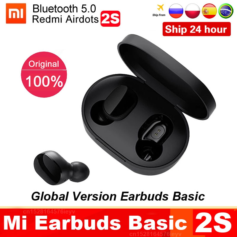 Original Xiaomi Redmi Airdots 2s Earphone Mi True Wireless Earbuds Basic 2s Bluetooth 5.0 Air2 SE TW