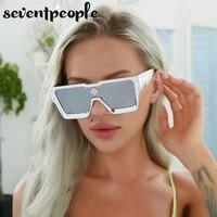 oversized square sunglasses women 2021 fashion big frame one piece diamond sun glasses for female large flat top eyewear unisex
