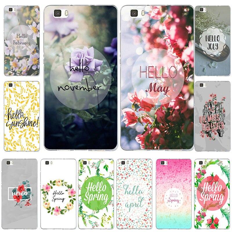 Hola primavera suave de silicona TPU casos de teléfono para Huawei P8 P9 P10 P20 Mate 10 Pro Y5 Y6 II Y7 Honor 6X 7X 9 Lite Coque de bolsas