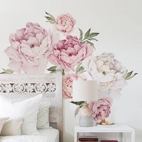 vinyl wall stickers flowers living room decoration peony sticker for wall decals for kids rooms flower of life wall sticker