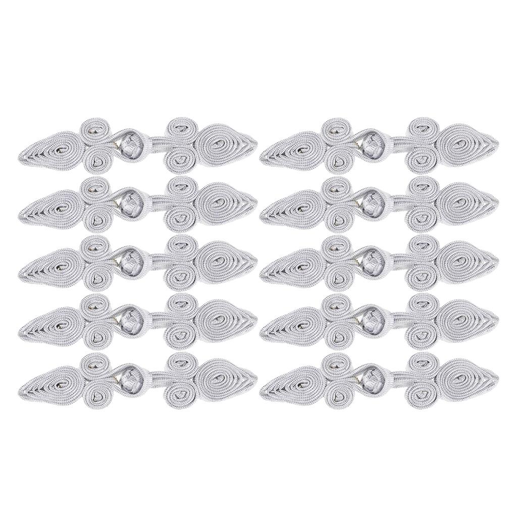 10 pares de botones de cierre de rana China hechos a mano para manualidades de costura