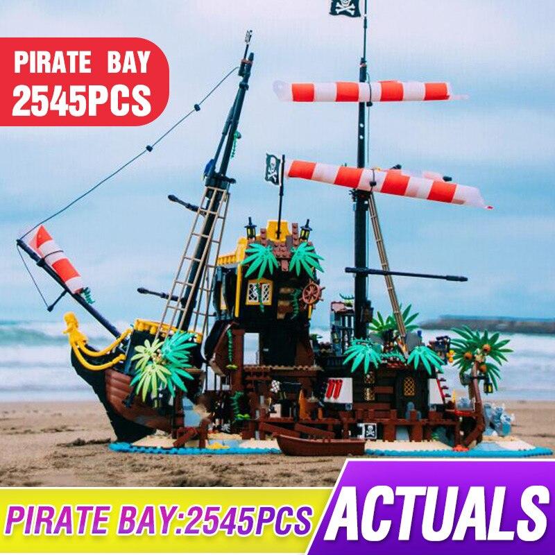 Lepining juguetes de película compatibles con 21322 piratas de Barracuda Bay Set Montaje de bloques de construcción modelo juguetes niños regalos de navidad