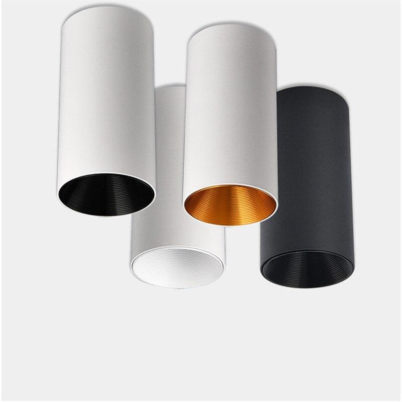 Proyector montado en superficie Led regulable, foco cilíndrico antideslumbrante Cob, iluminación interior,...
