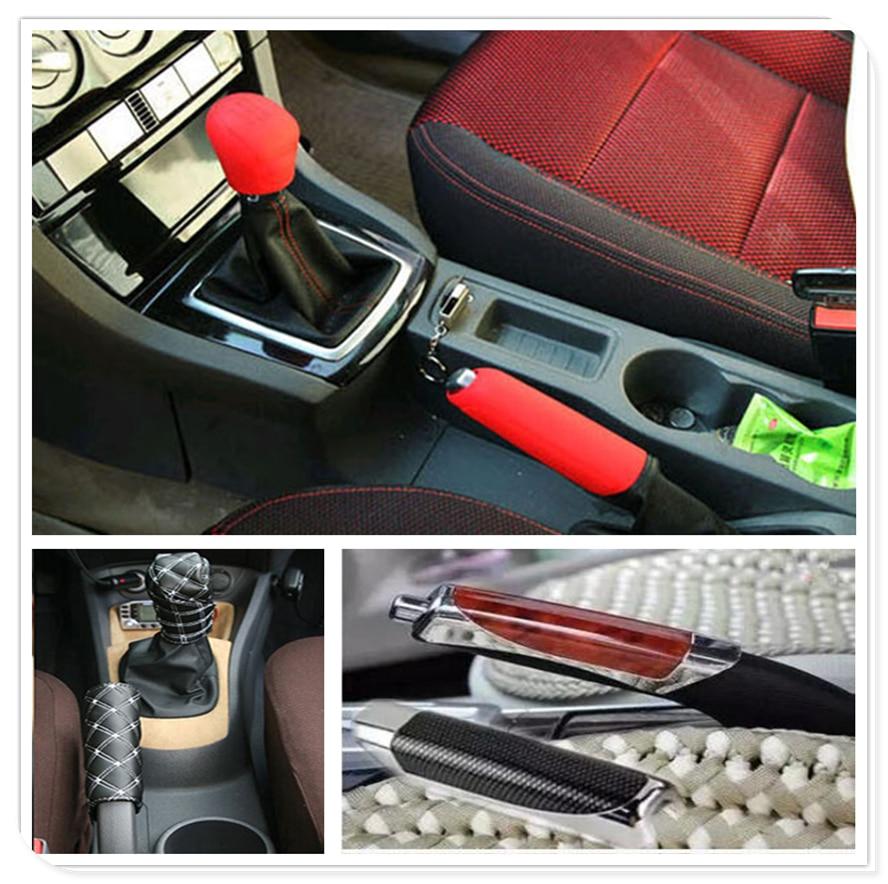Cubierta del freno de mano del pomo del cambio del engranaje del coche suv para Nissan Altima 370Z Xmotion x-trail Qashqai NISS LIVINA MARCH x-TRAIL