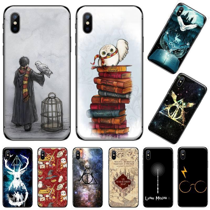 Siempre Hogwart Harries Potter cómic diseño negro cubierta de la caja del teléfono del casco para iphone 5 5s 5c se 6 6s 7 8 plus x xs x xr 11 pro max