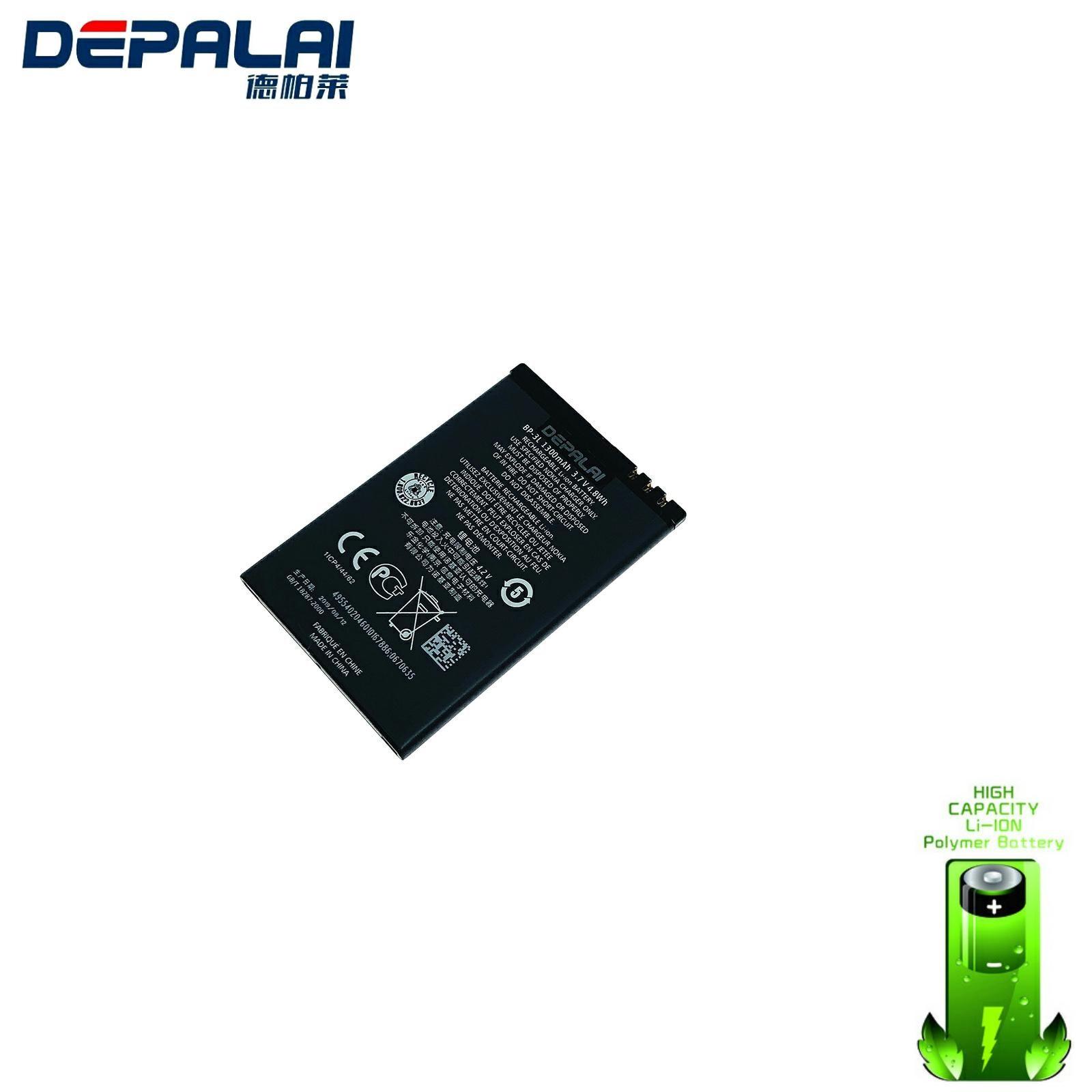 Batería de teléfono móvil BP-3L BP3L, 1300mAh, para NOKIA Lumia 710, 610,...